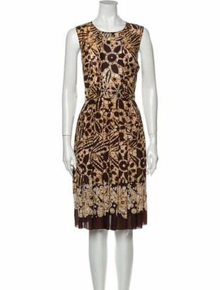 Oscar de la Renta 2012 Knee-Length Dress Brown