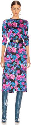 ANDAMANE Beulah Midi Dress in Floral Multi Black | FWRD