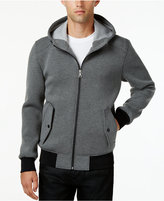 GUESS Men's Hooded Knit Bomber Jacket