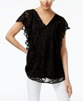 Alfani Ruffled Burnout Top, Only at Macy's