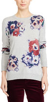 Ralph Lauren Floral-Print Crewneck Sweater