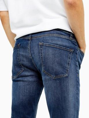 Topman Hendrix Skinny Jeans - Blue