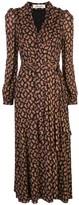 Diane von Furstenberg paisley print wrap dress