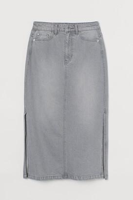 H&M Knee-length denim skirt