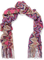 Missoni Knitted Scarf - Pink