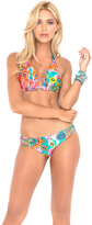 Luli Fama Boho Chic D/DD Cup Triangle Halter In Multicolor (L444073)