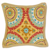 Bed Bath & Beyond Jute Trimmed Outdoor Square Throw Pillow in Sunset Red
