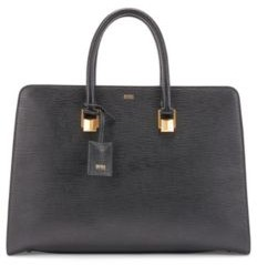 HUGO BOSS Tote bag in saffiano leather with pyramid hardware