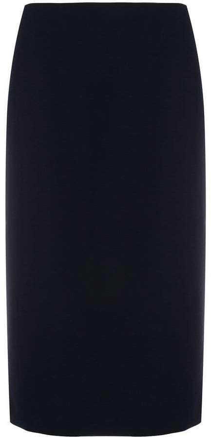 mid-length pencil skirt