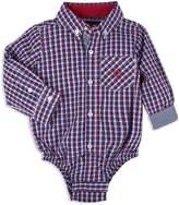 Andy & Evan Boys' Check Button-Down-Shirt Bodysuit