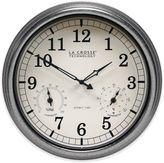 La Crosse Technology Indoor/Outdoor Atomic Wall Clock in Silver