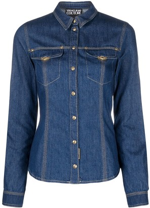 Versace Jeans Couture Long-Sleeved Denim Shirt