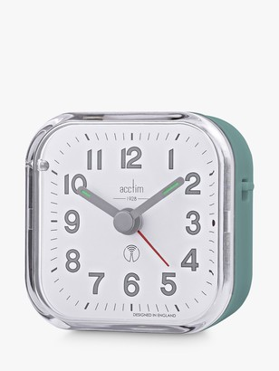 Acctim Radio Controlled Analogue Alarm Clock, Moss Green