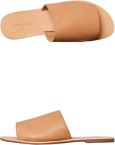 Urge Womens Molly Leather Slide Brown