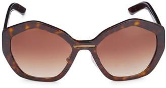 Prada 55MM Catwalk Cat Eye Sunglasses
