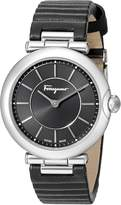 Salvatore Ferragamo Women's FIN010015 Style Analog Display Quartz Black Watch