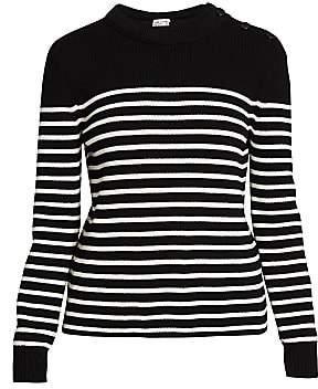 Saint Laurent Women's Striped Wool Blend Sweater