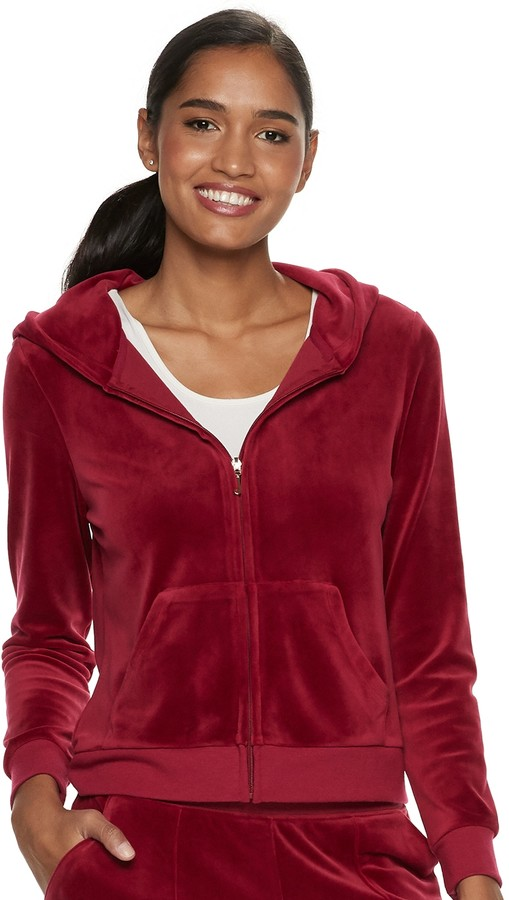 11906e13 Juicy Couture Velour Hoodie - ShopStyle