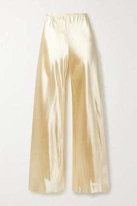 The Row Gala Satin Wide-leg Pants - Cream