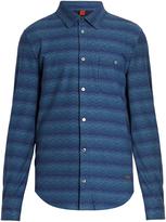 Missoni Chevron-striped point-collar cotton shirt