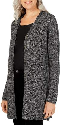 Karen Scott Petite Long-Sleeve Duster Cardigan