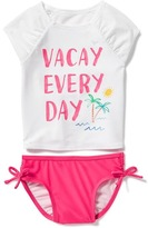 "Old Navy 2-Piece ""Vacay Every Day"" Graphic Rashguard Set for Toddler"