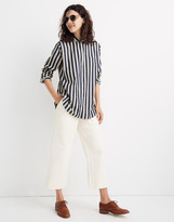 Madewell Tunic Shirt in Hampden Stripe