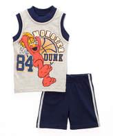 Children's Apparel Network Sesame Street Elmo 'Dunk' Pullover & Shorts - Infant & Toddler