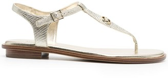MICHAEL Michael Kors Lizard-Embossed Flat Sandals
