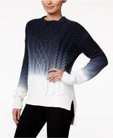 Calvin Klein Jeans Ombré Cable-Knit Sweater