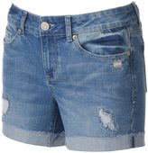 SO Juniors' SO® Ripped Midi Jean Shorts
