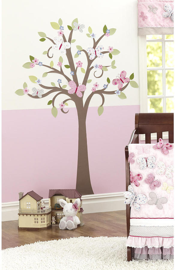 Triboro Quilt Mfg Co Just Born Antique Chic Tree Wall Decal