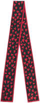 RED Valentino heart print scarf