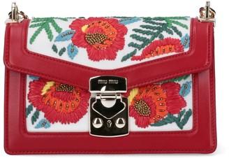 Miu Miu Embroidered Top Handle Bag