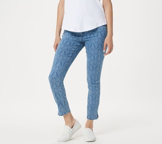 NYDJ Ami Skinny Ankle Jeans with Side Slits -Arrowhead