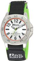 Ravel Men's Surfer 5ATM Velcro Quartz Watch with Silver Dial Analogue Display and Multicolour Nylon Strap R5-10.11G