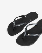 Express Havaianas Slim Crystal Flip Flops