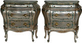 One Kings Lane Vintage Hand-Painted Italian-Style Commodes, S/2