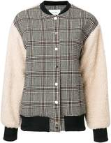 Carven checked bomber jacket