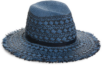 Treasure & Bond Frayed Pattern Panama Hat