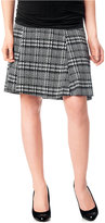 Motherhood Maternity Secret Fit Belly® Plaid Fit-And-Flare Skirt