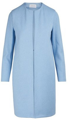 Harris Wharf London Collarless cotton coat