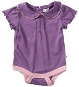 Baby Soy Puff Sleeve Bodysuit - Eggplant - 6-12 months