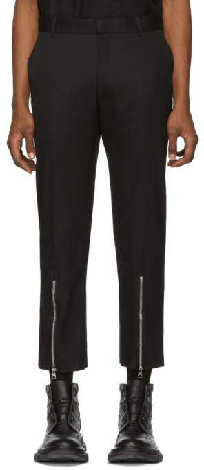 Alexander McQueen Black Cotton Twill Trousers