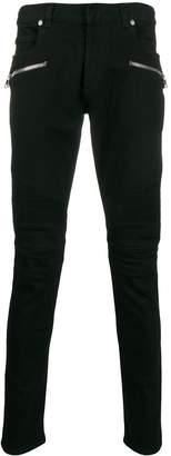 Balmain biker-style jeans