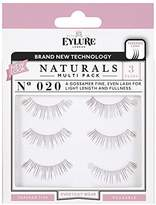 Eylure Strip Lashes Number 020, Naturals - Pack of 3 by