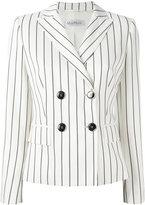 Max Mara striped double breasted blazer