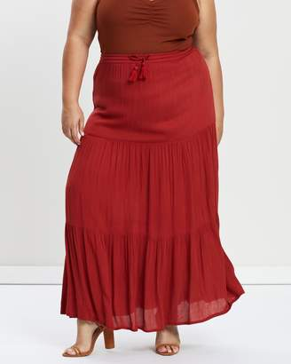 Evans Tiered Maxi Skirt