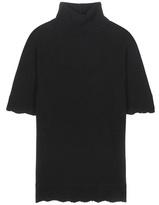 Valentino Cashmere turtleneck short sleeve sweater
