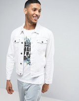 Casual Friday Denim Jacket In White